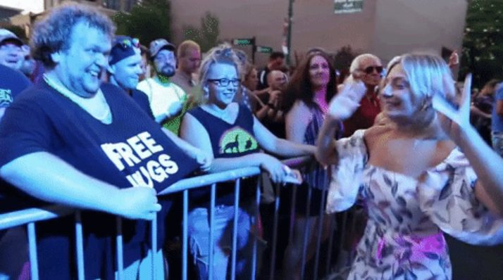 Do I Owe Free Hugs Guy a Hug at Schenectady County Summer Night?