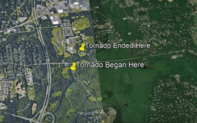 So A 105 MPH Tornado Missed The Saratoga Hockey Rinks by About 60 Feet Wednesday