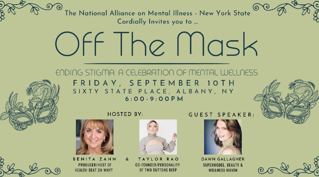 """Join The Buttonista at NAMI-NYS """"Off the Mask"""" Event Friday, September 10"""