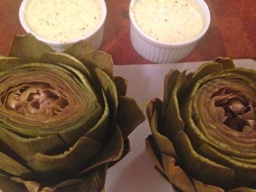 naked artichokes
