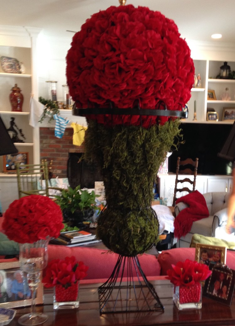 large red topiary