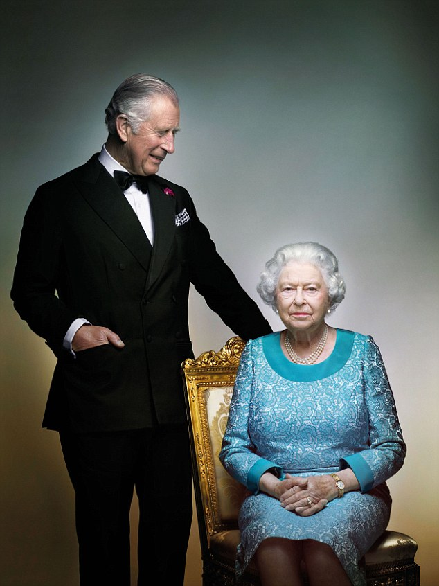 A supplied image obtained Saturday, 18, 2016. A photograph of the Queen and Prince Charles taken in May 2016 in the White Drawing Room at Windsor Castle, prior to the final night of The Queen's 90th Birthday Celebrations at the Royal Windsor Horse Pageant. The photo is being released by Clarence House to mark the end of the year of celebrations for The Queen's 90th birthday. (AAP Image/PA, Nick Knight) NEWS EDITORIAL USE ONLY. NO SALES, NO COMMERCIAL USE, NO BOOKS OR MERCHANDISING. NO MANIPULATION, OTHER THAN CROPPING. NOT FOR USE AFTER SUNDAY DECEMBER 25, 2016
