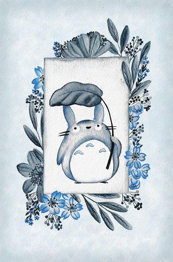 Blue mini Totoro