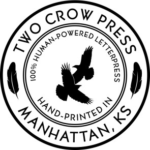 Two Crow Press Seal for large uses (shirts, etc.)