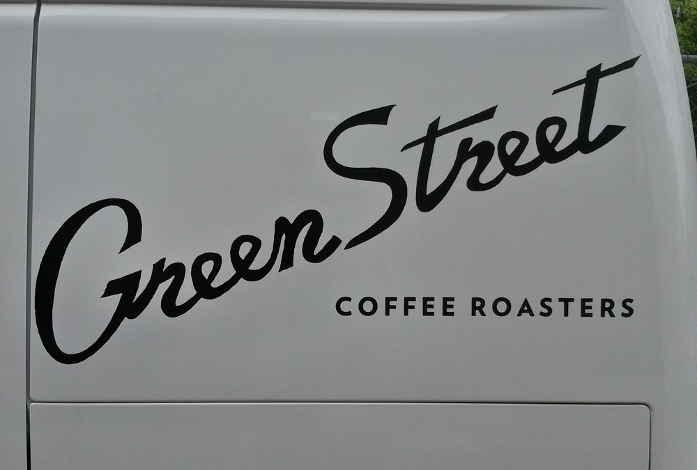 Vinyl Decal job for GreenStreet Coffee Roasters!