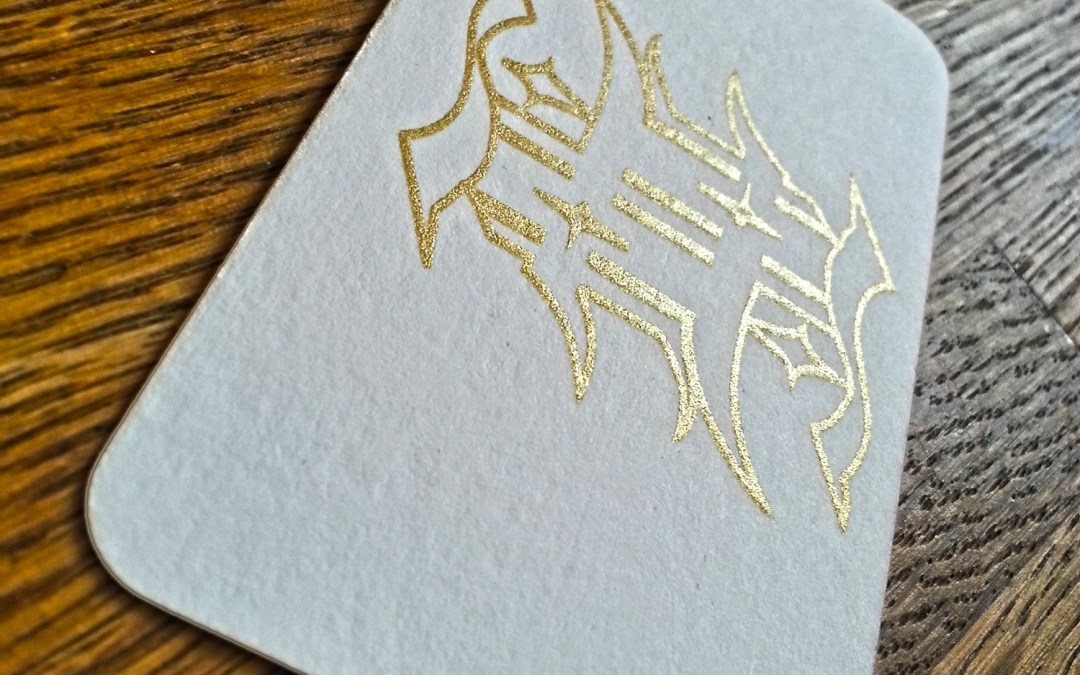 Nick Phillips Screen Printed, Edge Painted Business Cards