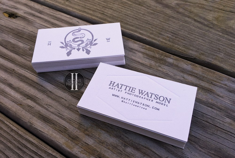 Hattie Watson Letterpress Business cards.
