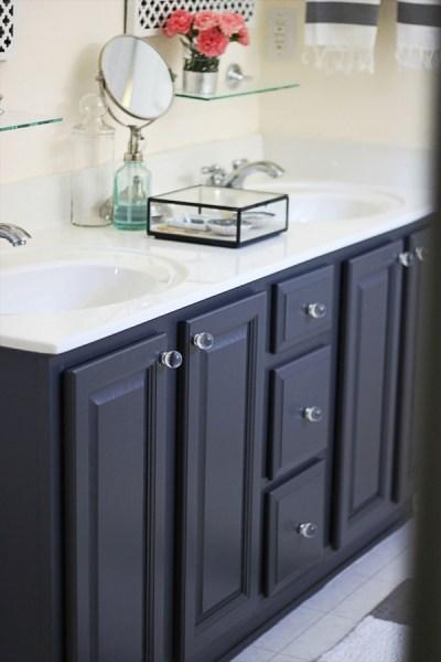 Painted gray vanity