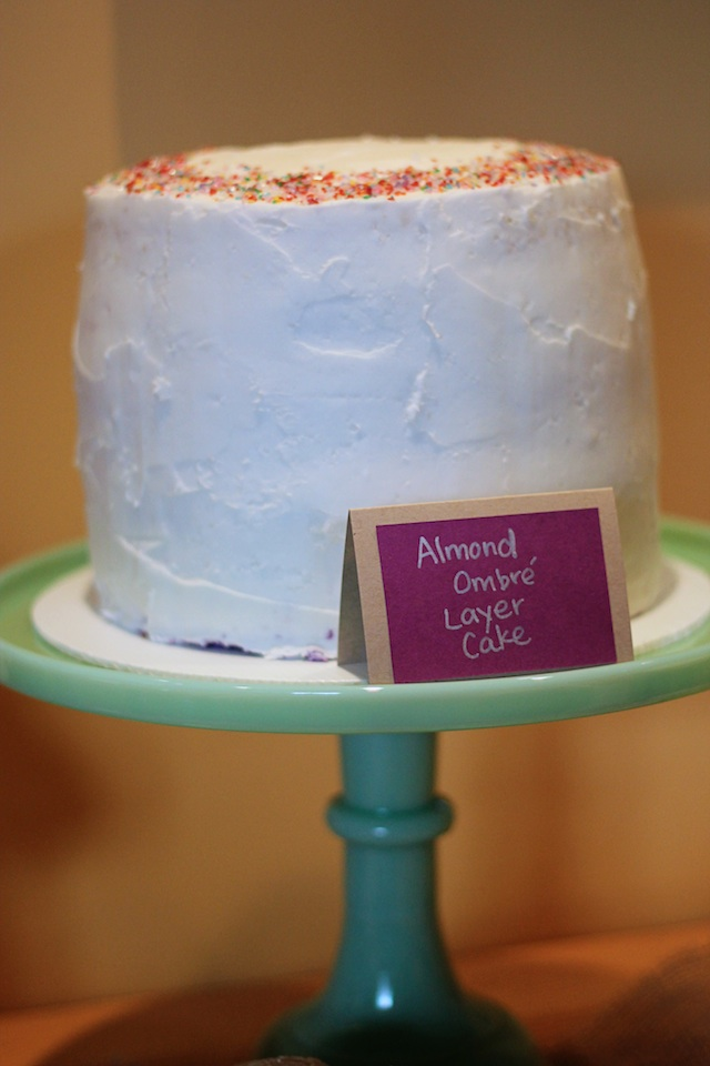 ombre cake iced | Two Delighted