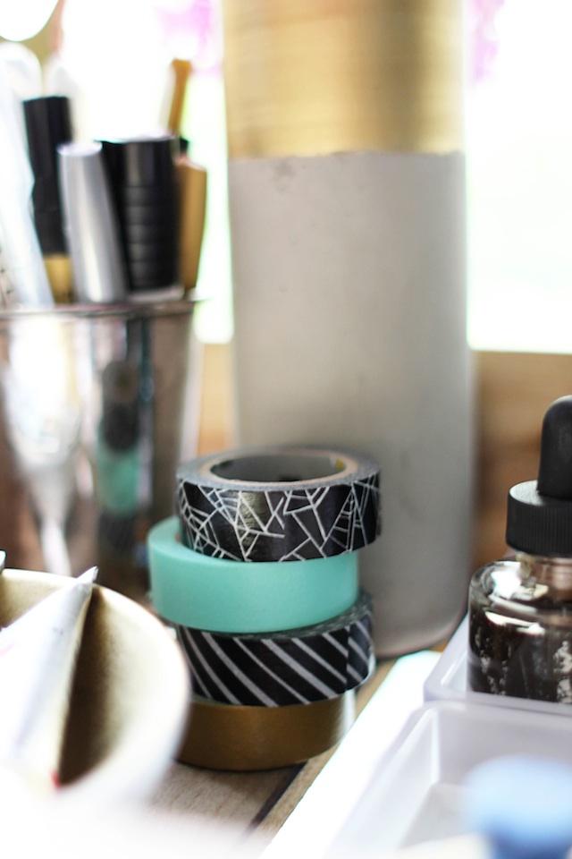 Calligraphy cart washi tape blog