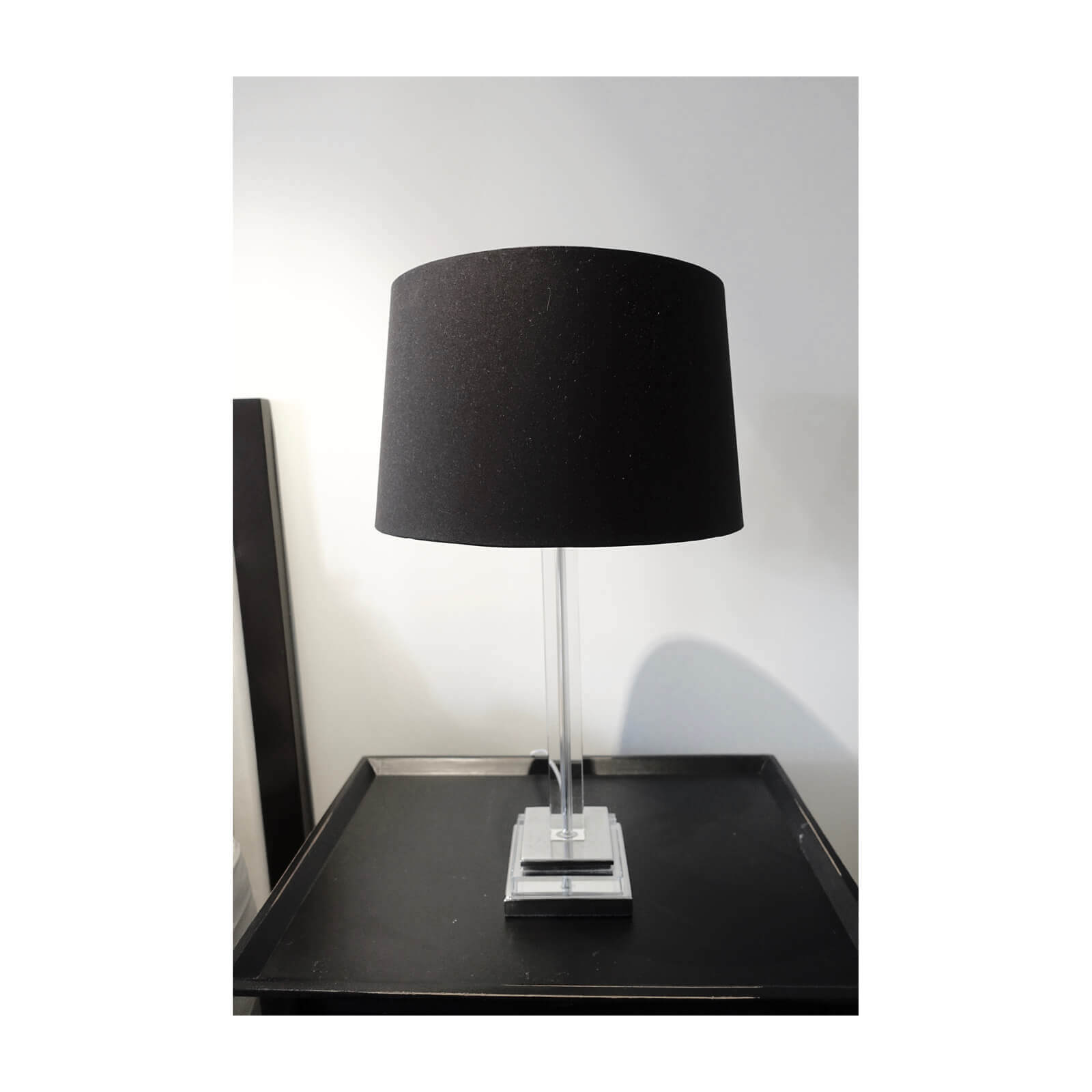 bedside table lamps with black shade