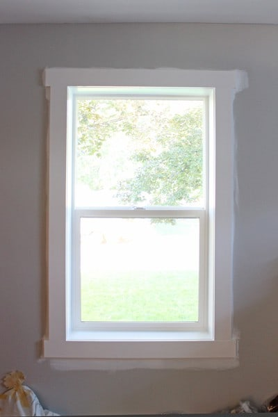 Installing Window Trim