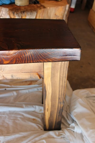 DIY old wood bench