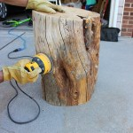 DIY Tree Stump Table