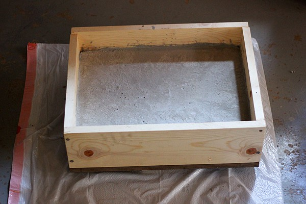 create box with cement