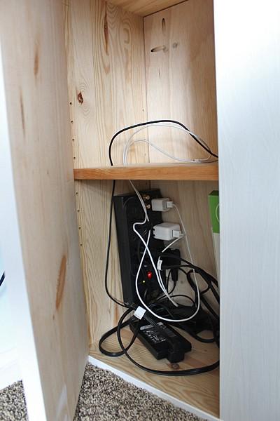 Hide desk cords