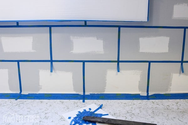 tape lines for subway tile paint