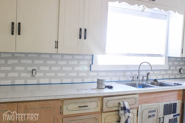 diy subway tile backsplash-7