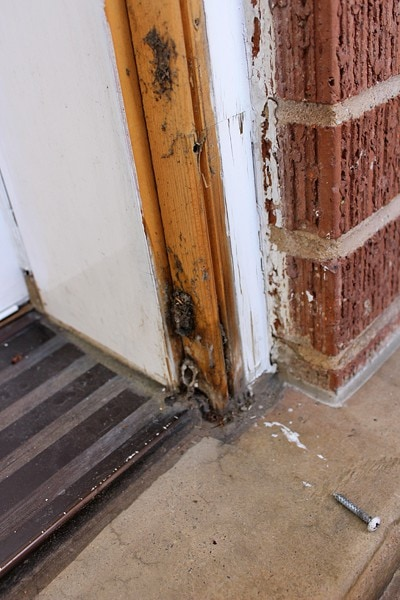 Removing-old-storm-door
