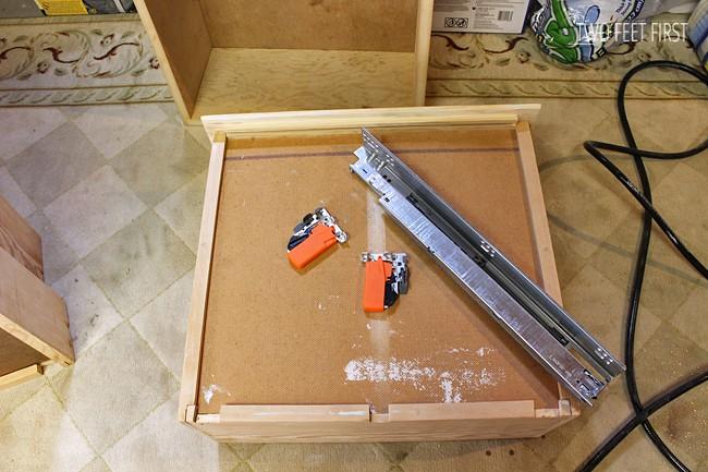 remove wooden slides