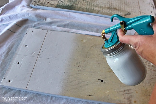 Cheap paint sprayer my new favorite painting tool for Best spray gun for kitchen cabinets