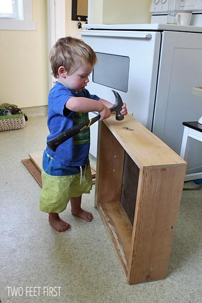 adding metal slides to wooden drawers