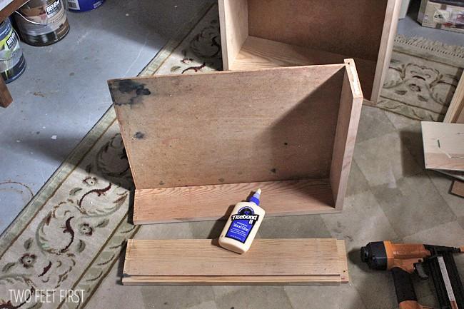 rebuild a cabinet drawer