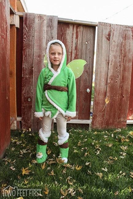 winter tinkerbell costume