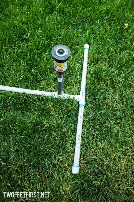above ground sprinkler with PVC