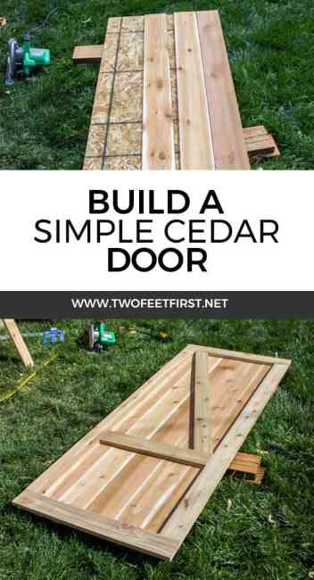 build a shed door with cedar