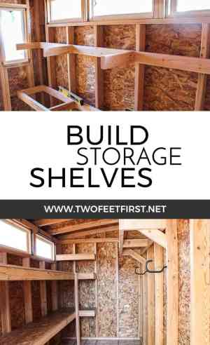 build storage shelves in a shed
