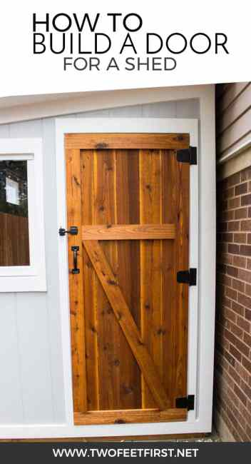 Are you looking for a simple way to build a door? Maybe one with color? This is how to build a simple cedar door for a shed.