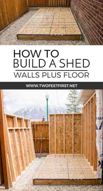 Do you need more storage at your house? Maybe you need a shed. Here is how to build shed walls plus the floor. That way you can build your own shed!