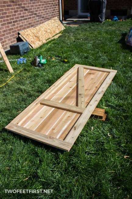 how to build a shed door out of cedar