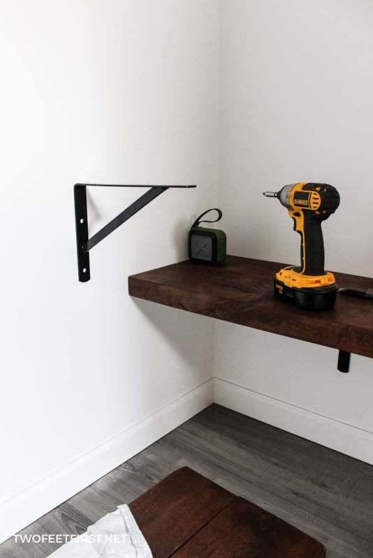 installing shelf bracket on wall