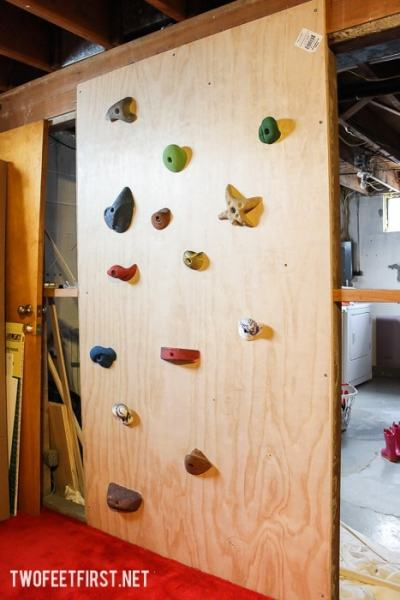 build a kids climbing wall for inside your house.