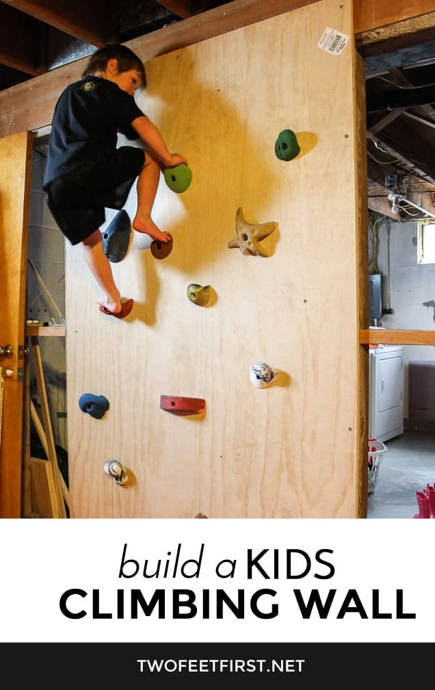 How to Build a kids climbing wall in the house.