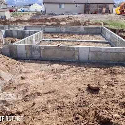 Building a duplex the foundation