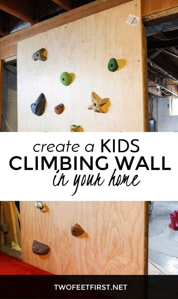 Create a kids climbing wall in your home.