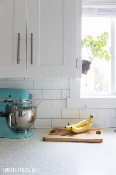 DIY Cheap Kitchen Backsplash