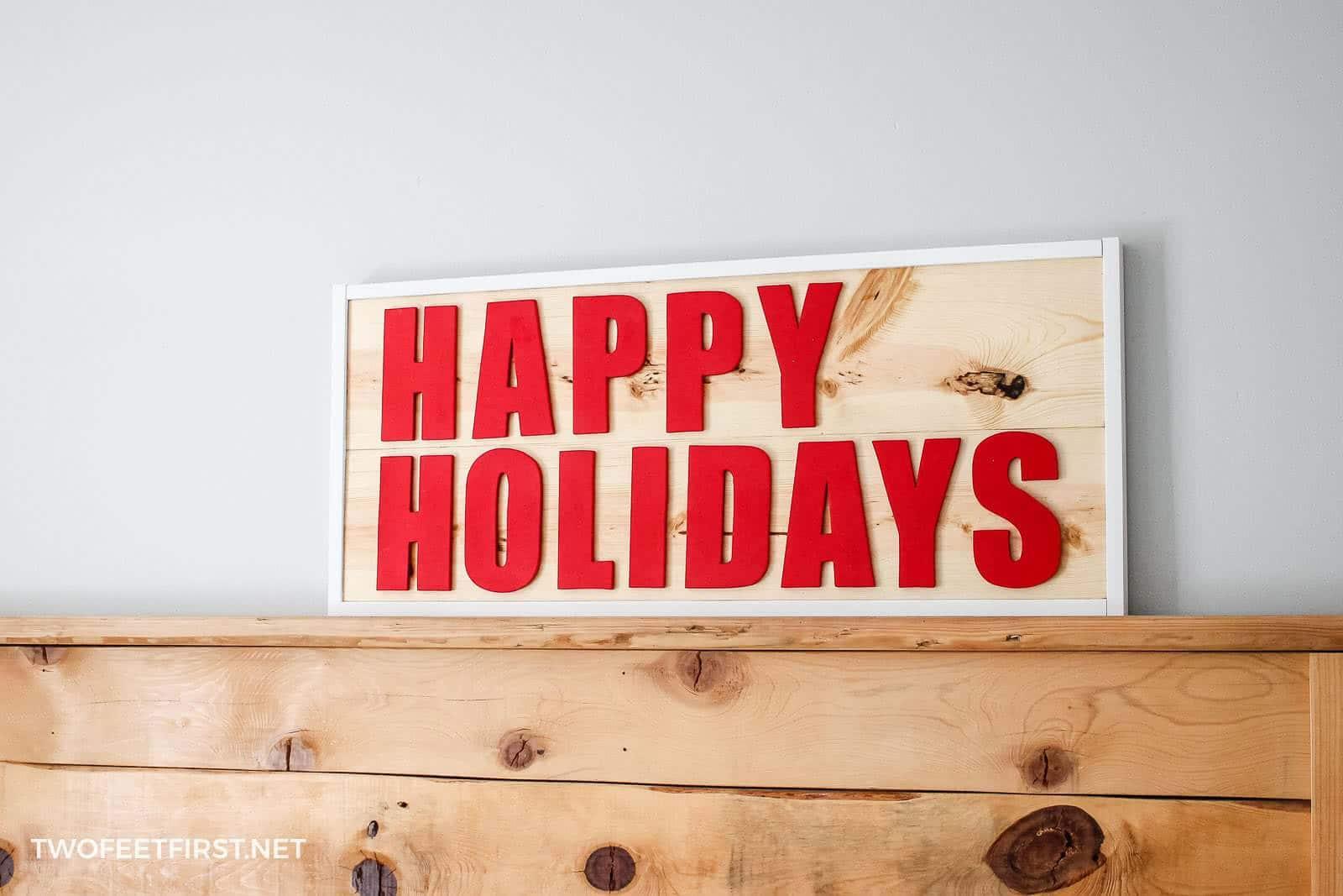 handmade Christmas sign