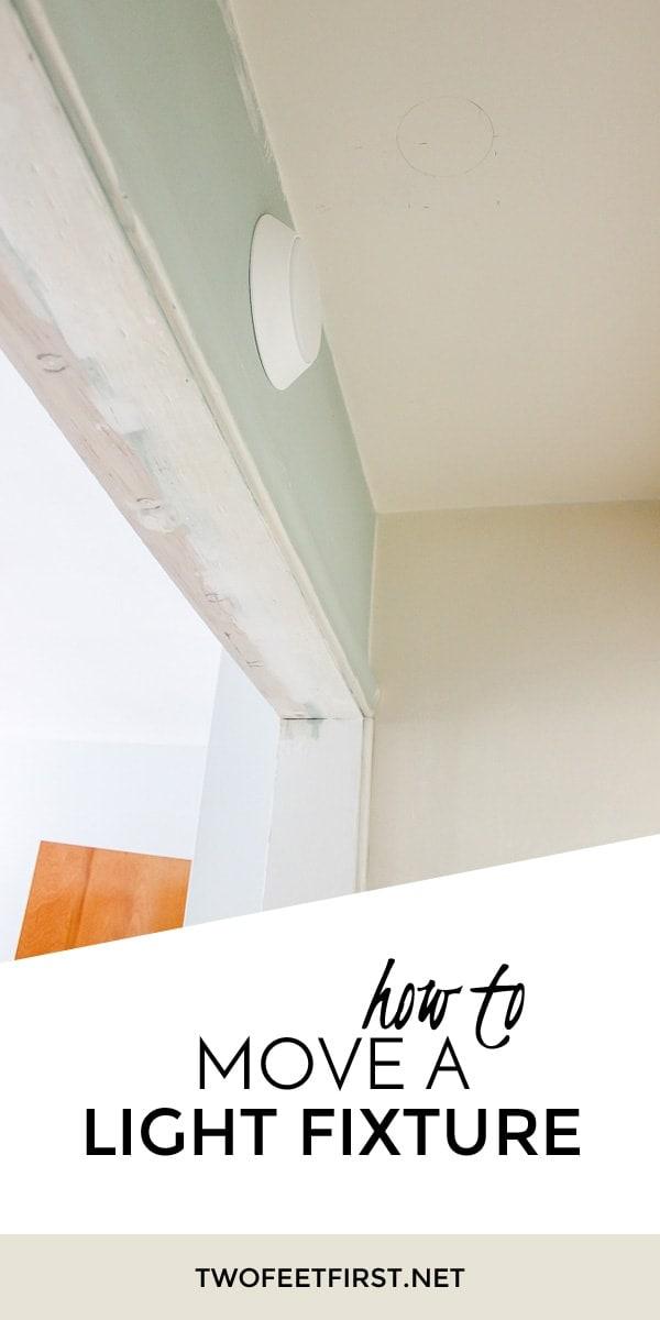 Bathroom Light Fixture Move installing new bathroom light fixture - twofeetfirst