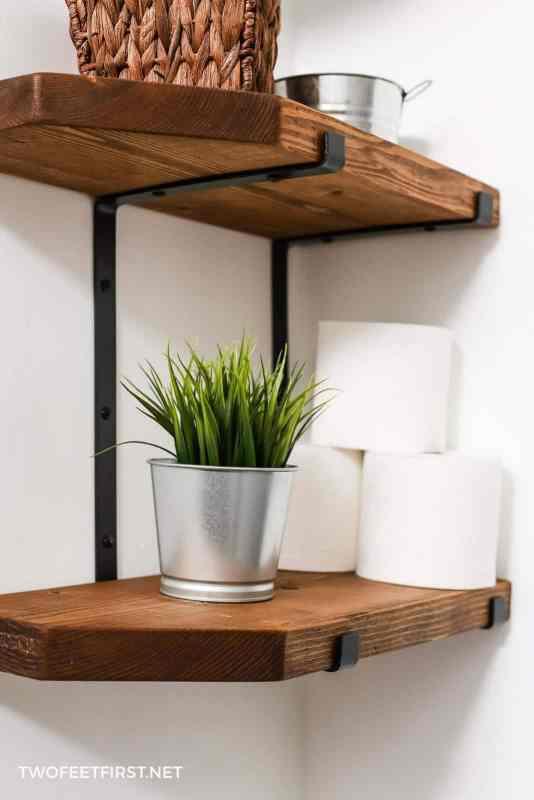 homemade shelfs