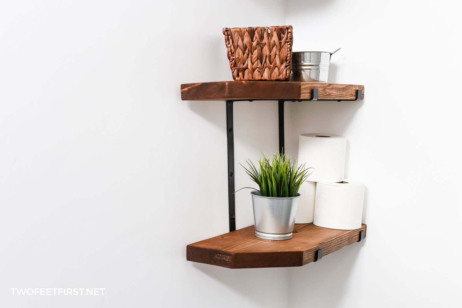 DIY custom farmhouse shelves