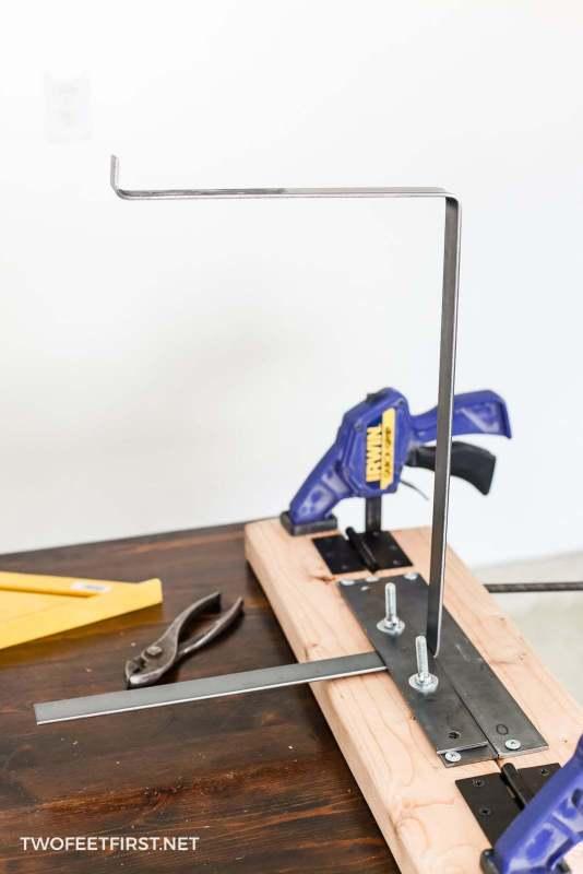 bending metal to create custom brackets