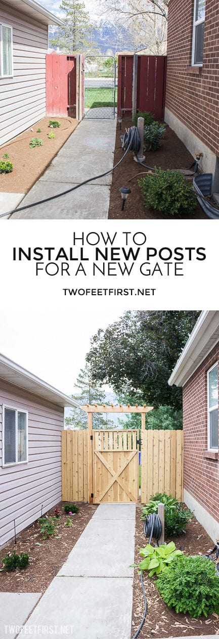 How to install new posts for a new gate.