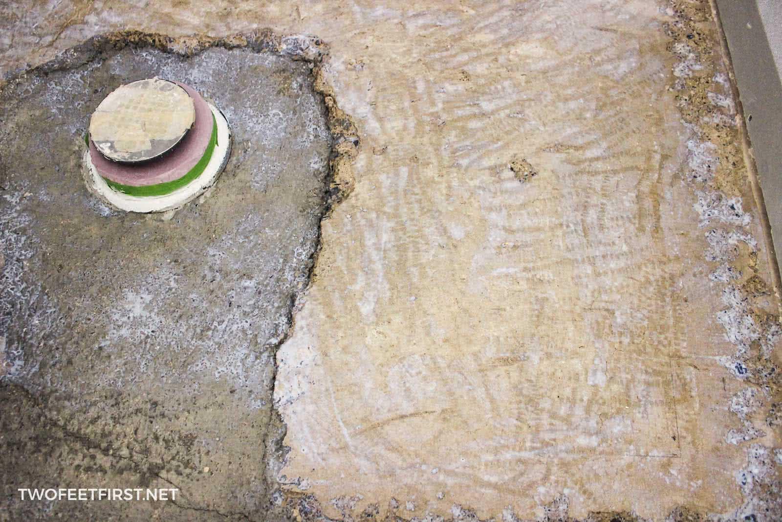 concrete after applying self-leveling primer