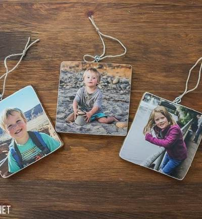 wooden picture ornament