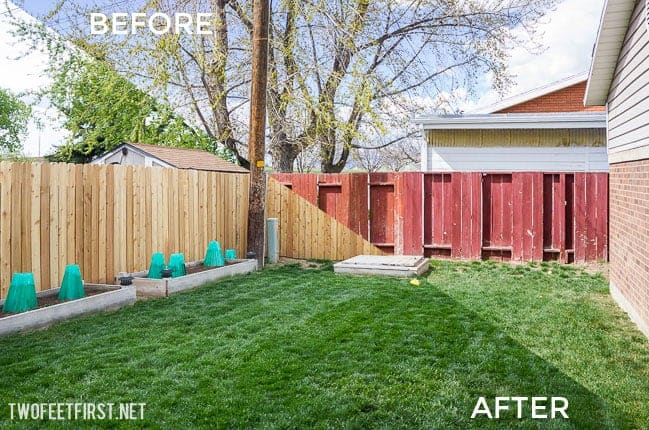 How to rebuild a fence before and after