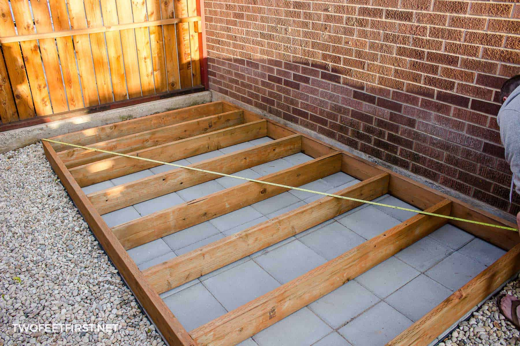 square floor for shed